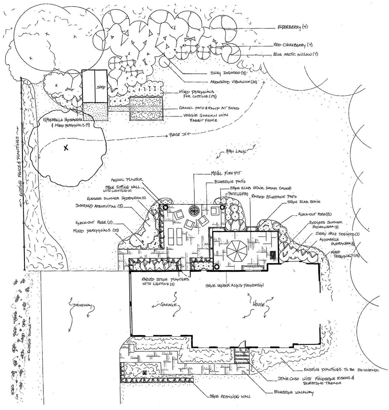 di stefano Landscaping Stone Patio Design Plan